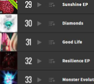 Sunshine EP Beatport Top 100