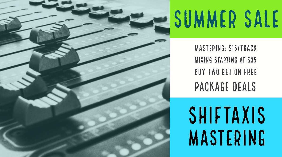 ShiftAxis Mastering Summer Sale