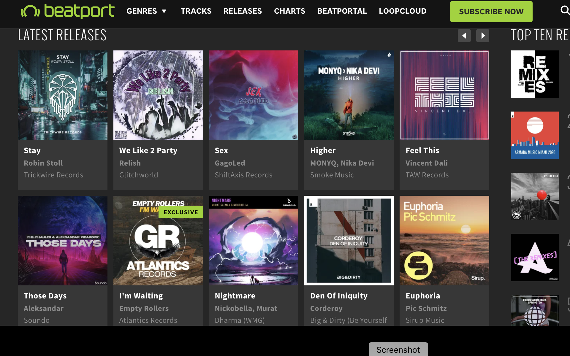 Sex Featured On Beatport